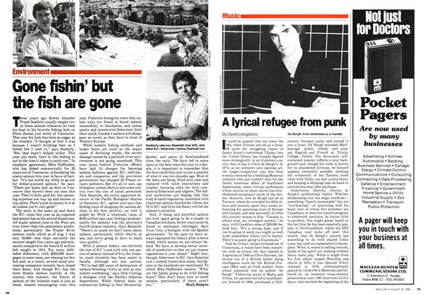 Article Preview: Gone fishin' but the fish are gone, August 1980 | Maclean's