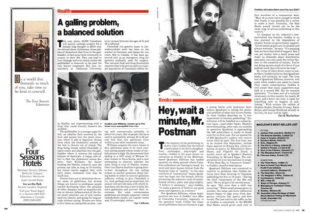 Article Preview: A galling problem, a balanced solution, August 1980 | Maclean's