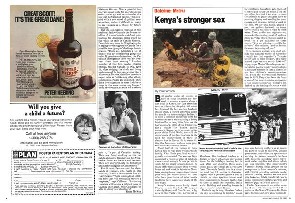 Article Preview: Kenya's stronger sex, August 1980 | Maclean's