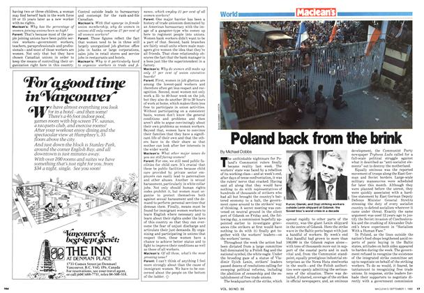 Article Preview: Poland back from the brink, September 1980 | Maclean's