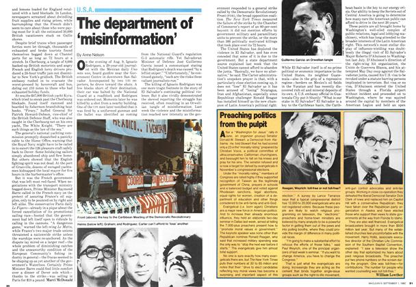 Article Preview: Preaching politics from the pulpit, September 1980 | Maclean's