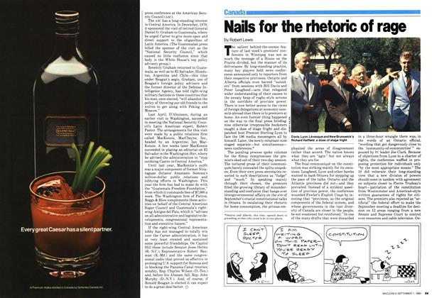 Article Preview: Nails for the rhetoric of rage, September 1980   Maclean's