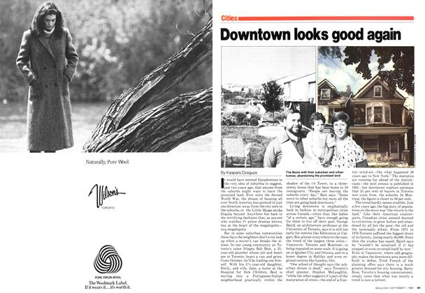 Article Preview: Downtown looks good again, September 1980 | Maclean's