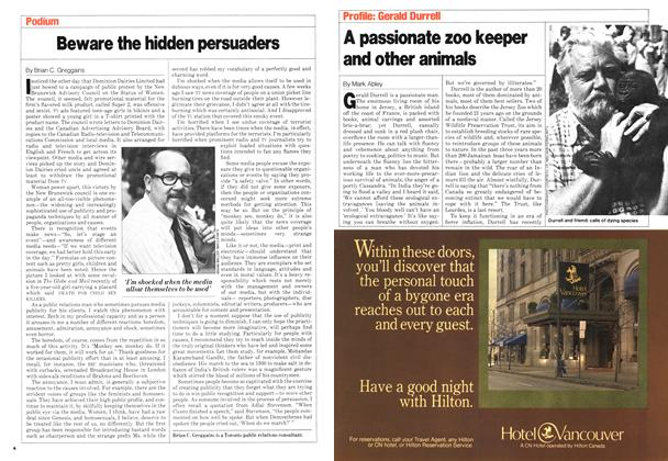 Article Preview: A passionate zoo keeper and other animals, September 1980 | Maclean's