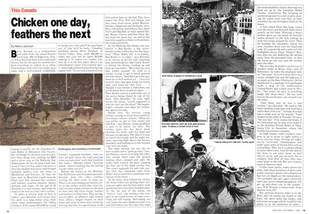 Article Preview: Chicken one day, feathers the next, September 1980 | Maclean's