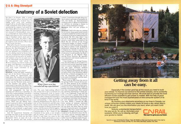Article Preview: Anatomy of a Soviet defection, >SEPTEMBER 8, 1980 1980 | Maclean's