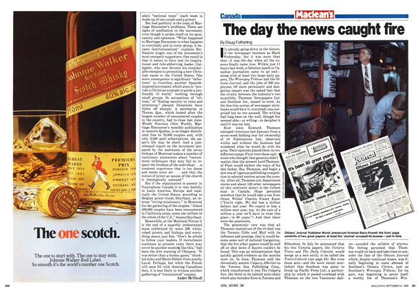 Article Preview: The day the news caught fire, >SEPTEMBER 8, 1980 1980 | Maclean's
