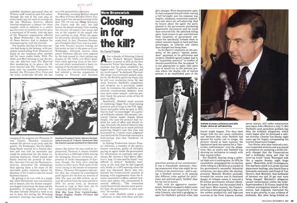 Article Preview: Closing in for the kill?, >SEPTEMBER 8, 1980 1980 | Maclean's