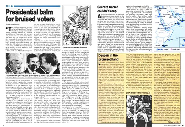 Article Preview: Presidential balm for bruised voters, >SEPTEMBER 8, 1980 1980 | Maclean's