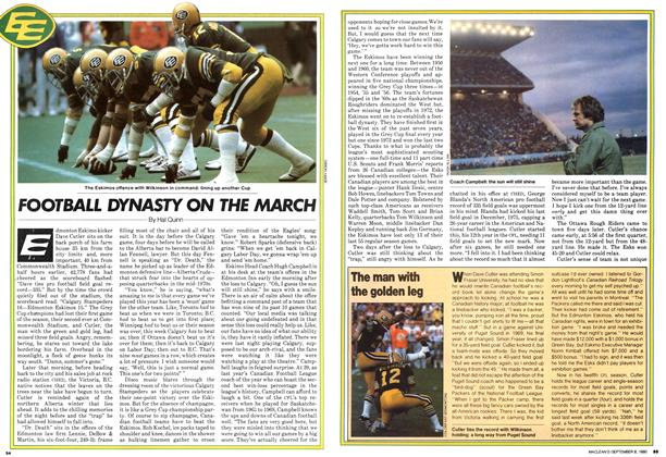 Article Preview: FOOTBALL DYNASTY ON THE MARCH, >SEPTEMBER 8, 1980 1980 | Maclean's