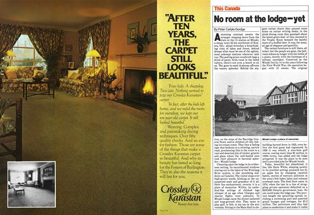 Article Preview: No room at the lodge-yet, >SEPTEMBER 8, 1980 1980 | Maclean's