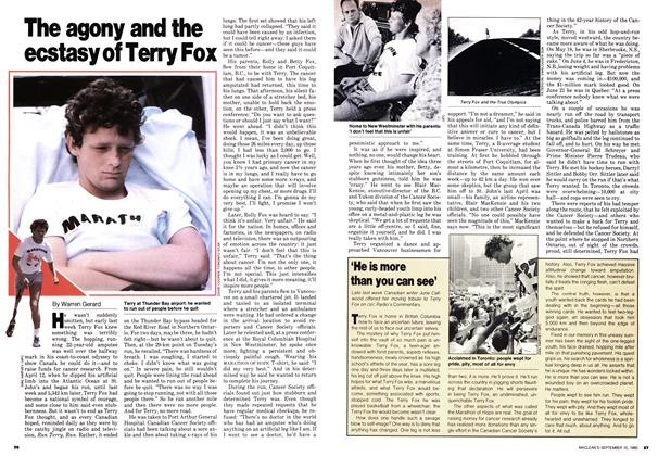 Article Preview: The agony and the ecstasy of Terry Fox, September 1980 | Maclean's