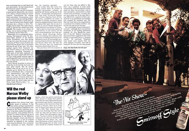 Article Preview: Will the real Marcus Welby please stand up, September 1980 | Maclean's