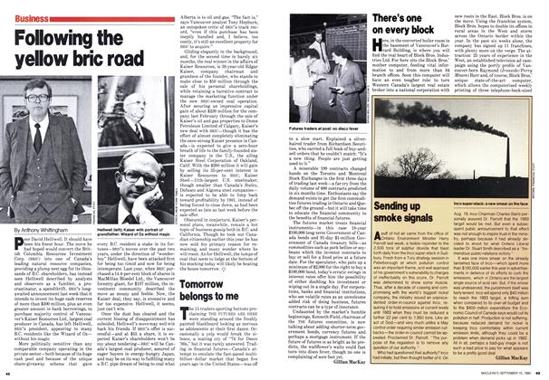 Article Preview: Following the yellow bric road, September 1980 | Maclean's