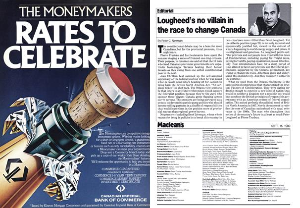 Article Preview: Lougheed's no villain in the race to change Canada, September 1980 | Maclean's