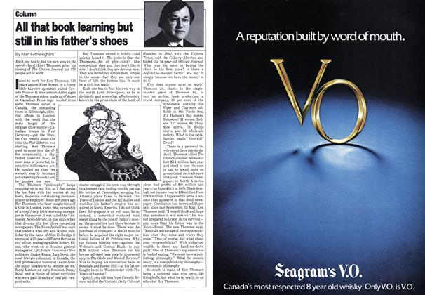 Article Preview: All that book learning but still in his father's shoes, September 1980   Maclean's