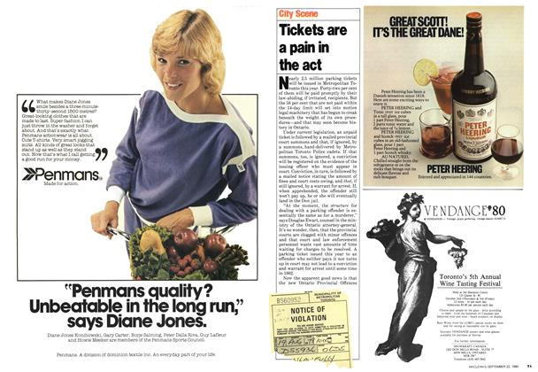 Article Preview: Tickets are a pain in the act, September 1980 | Maclean's