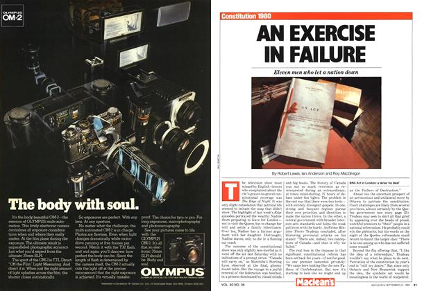 Article Preview: AN EXERCISE IN FAILURE, September 1980 | Maclean's