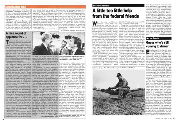 Article Preview: Guess who's still coming to dinner, September 1980 | Maclean's