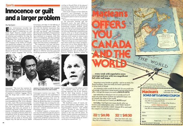 Article Preview: Innocence or guilt and a larger problem, September 1980 | Maclean's