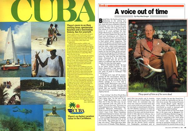 Article Preview: A voice out of time, September 1980 | Maclean's