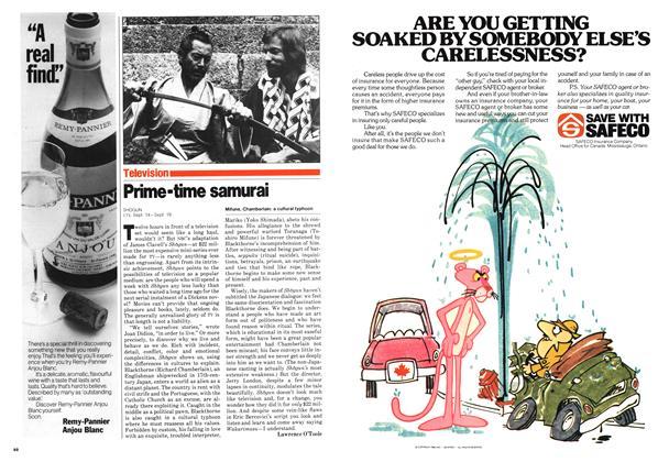 Article Preview: Prime-time samurai, September 1980   Maclean's