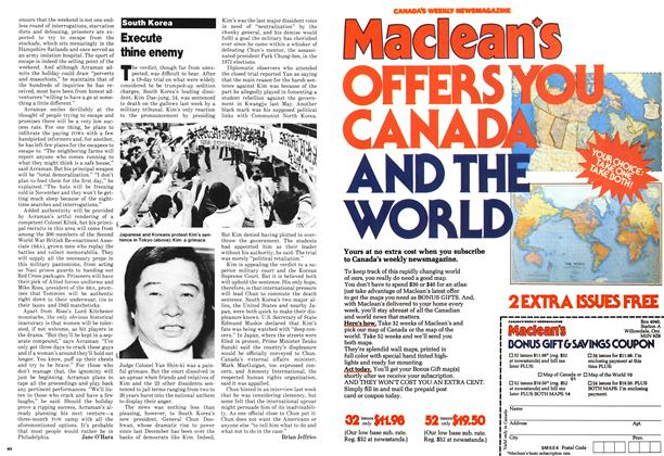 Article Preview: Execute thine enemy, September 1980 | Maclean's
