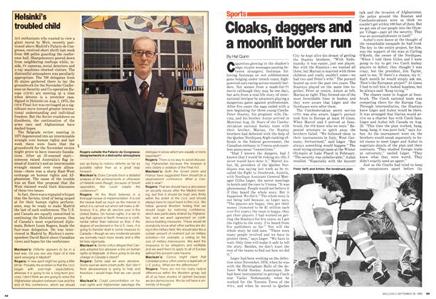 Article Preview: Cloaks, daggers and a moonlit border run, September 1980 | Maclean's