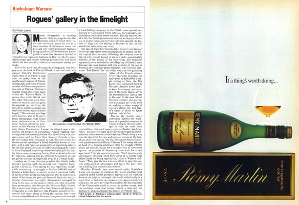 Article Preview: Rogues' gallery in the limelight, September 1980 | Maclean's