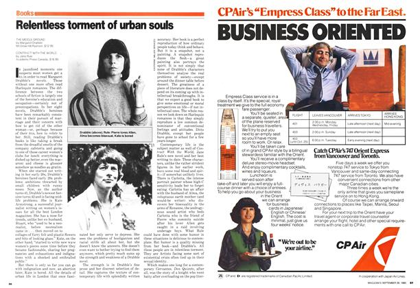 Article Preview: Relentless torment of urban souls, September 1980 | Maclean's