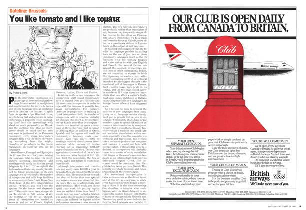 Article Preview: You like tomato and I like toμáta, September 1980 | Maclean's