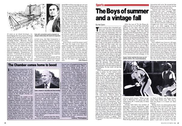 Article Preview: The Boys of summer and a vintage fall, October 1980 | Maclean's