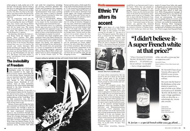 Article Preview: Ethnic TV alters its accent, October 1980 | Maclean's
