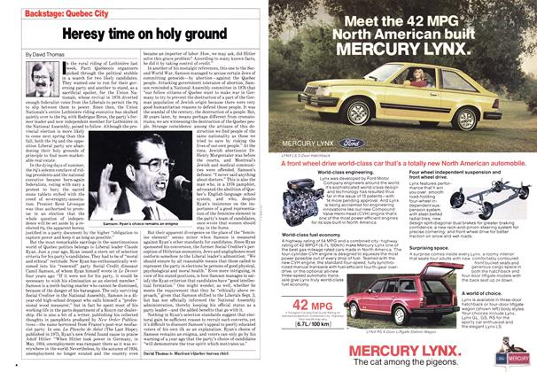 Article Preview: Heresy time on holy ground, October 1980 | Maclean's