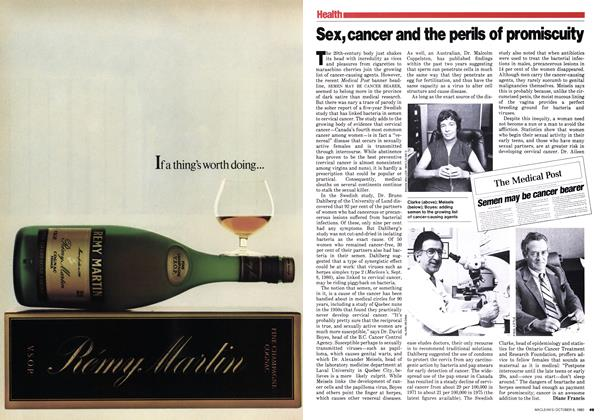 Article Preview: Sex,cancer and the perils of promiscuity, October 1980 | Maclean's