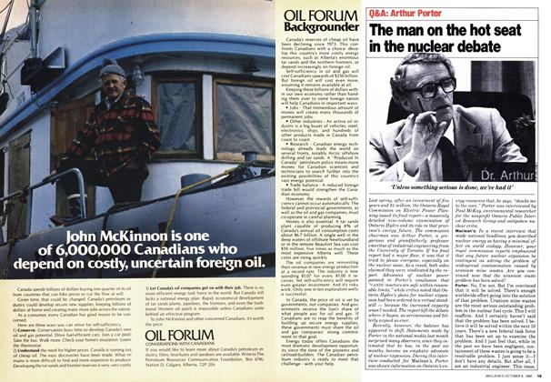 Article Preview: The man on the hot seat in the nuclear debate, October 1980 | Maclean's