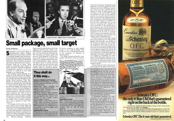 Article Preview: Small package, small target, October 1980 | Maclean's