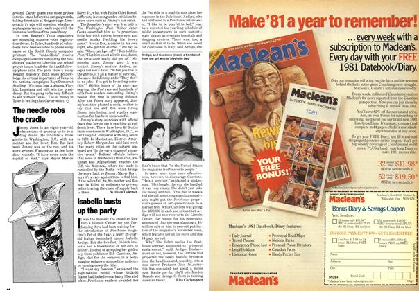 Article Preview: Isabella busts up the party, October 1980 | Maclean's