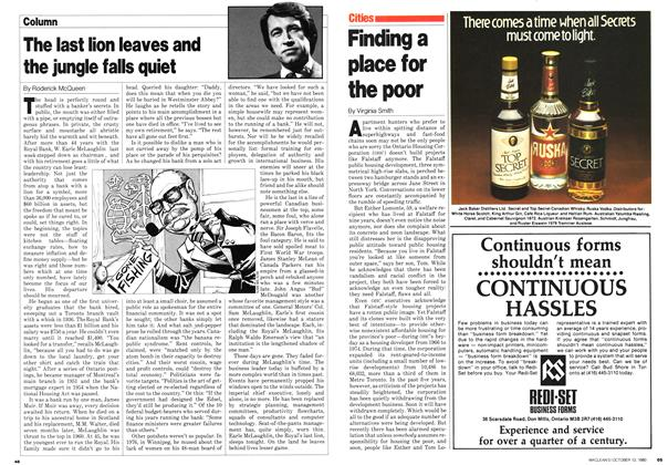 Article Preview: Finding a place for the poor, October 1980 | Maclean's