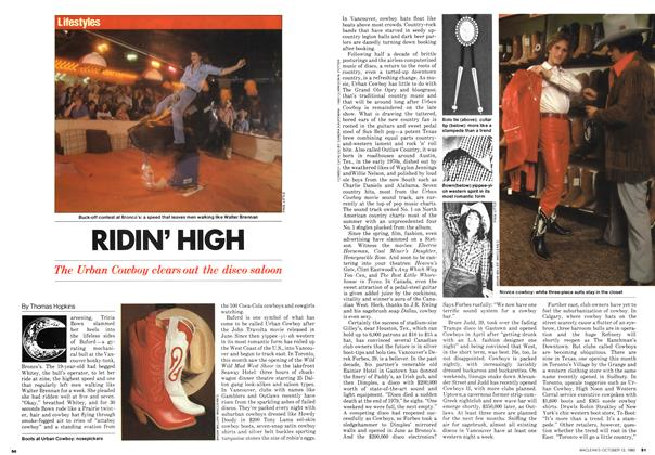 Article Preview: RIDIN' HIGH, October 1980 | Maclean's