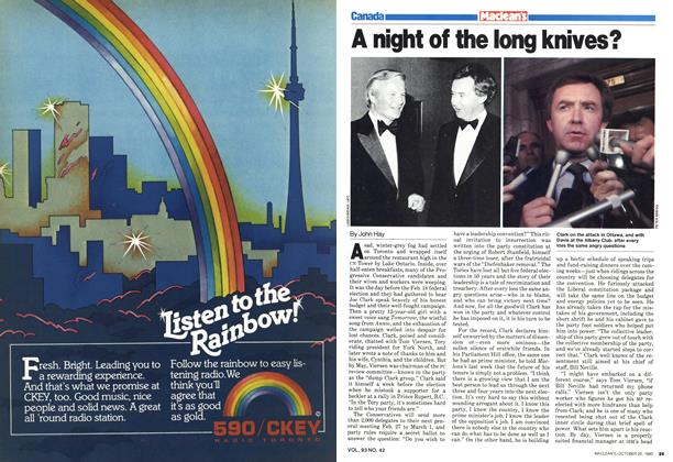 Article Preview: A night of the long knives?, October 1980 | Maclean's
