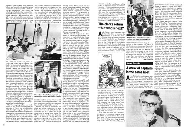 Article Preview: The clerks return -but who's next?, October 1980 | Maclean's