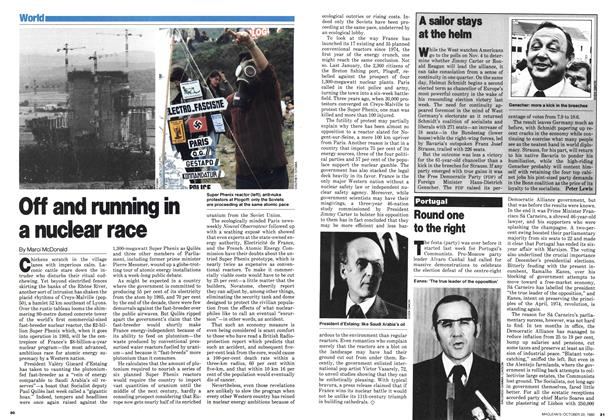 Article Preview: Off and running in a nuclear race, October 1980 | Maclean's
