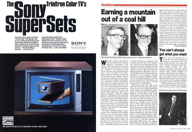 Article Preview: Earning a mountain out of a coal hill, October 1980 | Maclean's