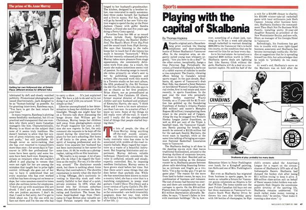 Article Preview: Playing with the capital of Skalbania, October 1980 | Maclean's