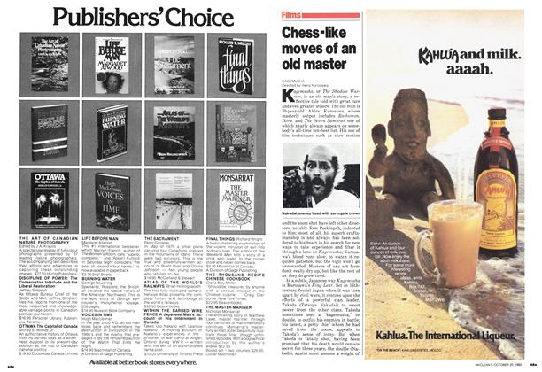Article Preview: Chess-like moves of an old master, October 1980 | Maclean's