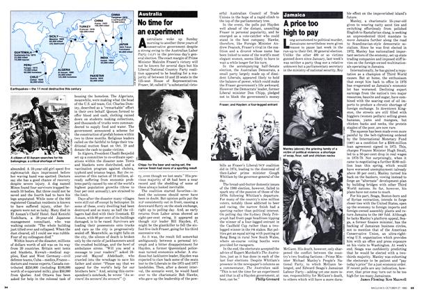 Article Preview: A price too high to pay, October 1980 | Maclean's