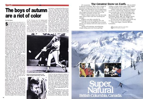 Article Preview: The boys of autumn are a riot of color, October 1980 | Maclean's