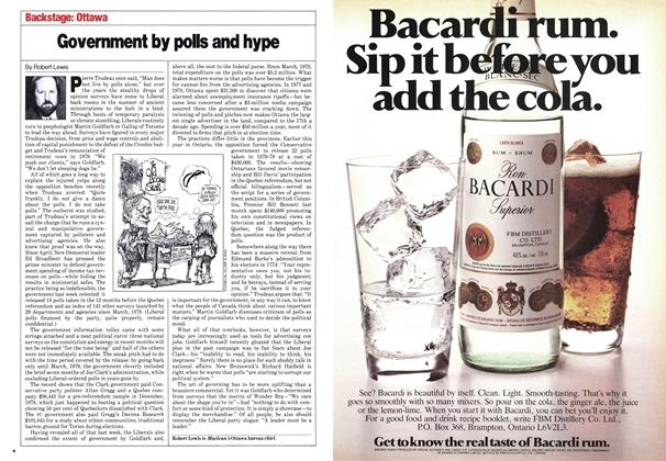 Article Preview: Government by polls and hype, October 1980   Maclean's