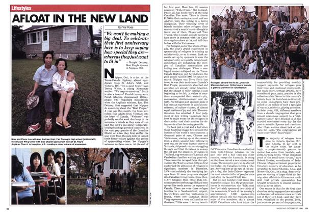 Article Preview: AFLOAT IN THE NEW LAND, October 1980 | Maclean's